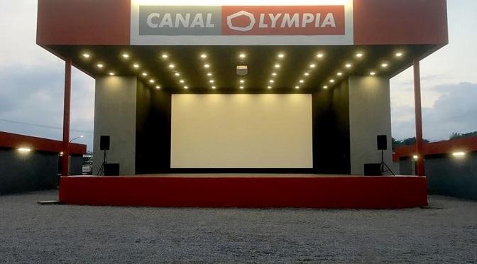 NEWS : Canalolympia, vue de l'intérieur … et de loin.