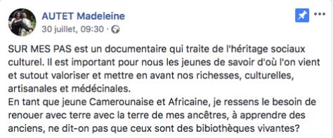 trailer-sur-mes-pas-post-madelaine-autet-facebook-lefilmcamerounais